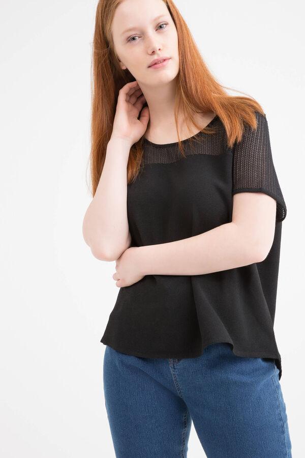 T-shirt traforata tinta unita Curvy | OVS