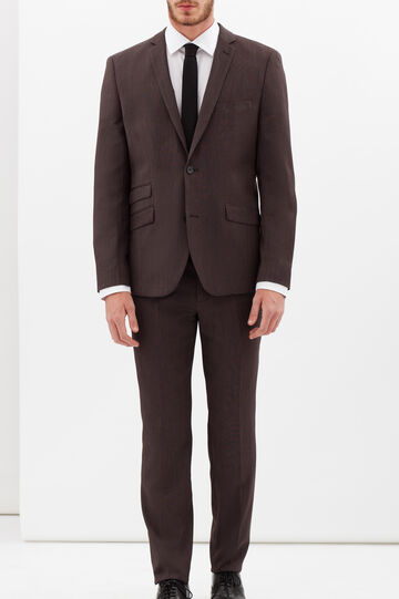 Elegant suit with extra-slim custom fit, Brown, hi-res