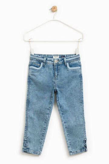 Misdyed-effect crop jeans