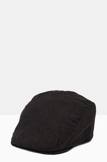 Solid colour cotton blend cloth cap, Grey, hi-res