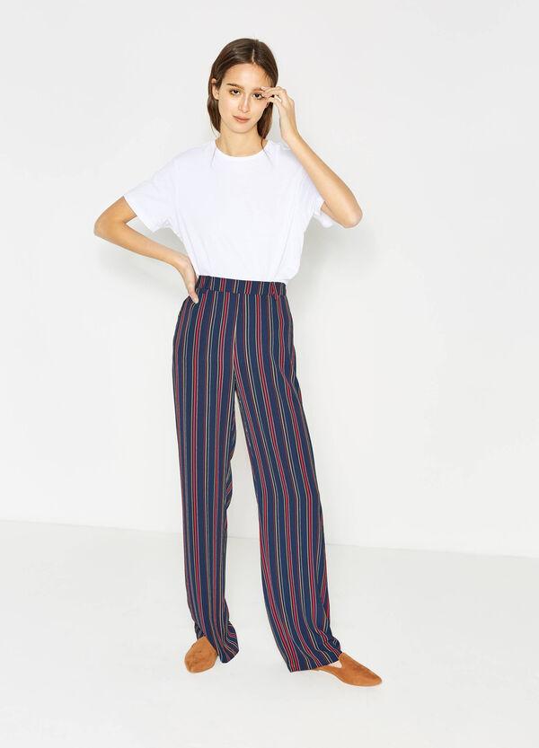 Pantaloni palazzo stretch a righe | OVS
