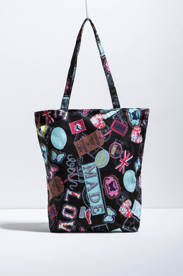 Patterned cotton shopping bag