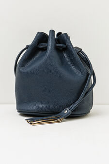 Solid colour shoulder bag, Navy Blue, hi-res