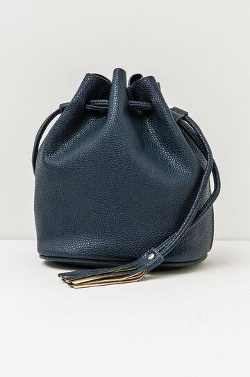Solid colour shoulder bag, Navy Blue, hi-res