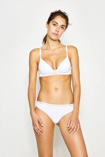 Triangle bra with lace trim
