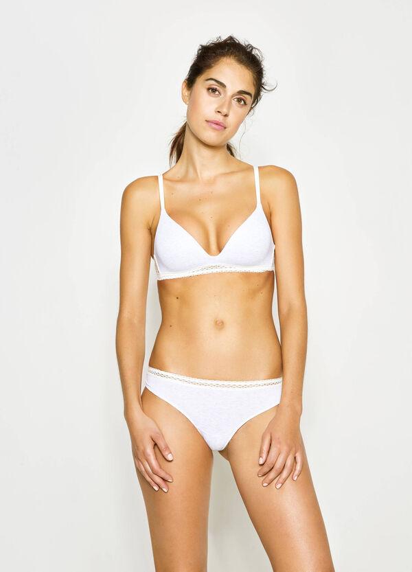 Triangle bra with lace trim   OVS