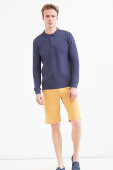 G&H stretch Bermuda shorts with drawstring, Ochre Yellow, hi-res