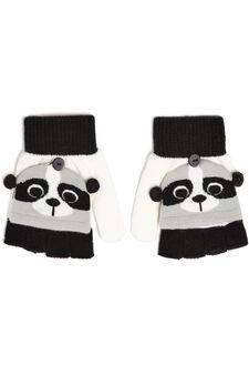 Fingerless mitten gloves, Grey, hi-res