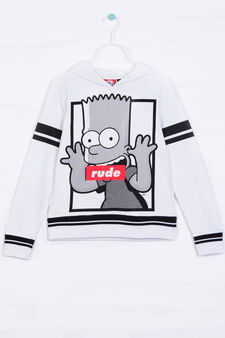 100% cotton hoodie with The Simpsons print, White, hi-res