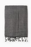 100% viscose patterned scarf, Black/White, hi-res