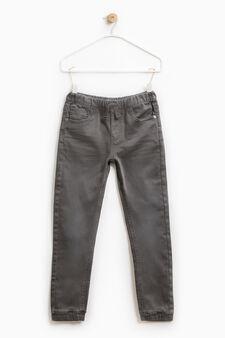 Pantaloni jogger stretch con coulisse, Grigio antracite, hi-res