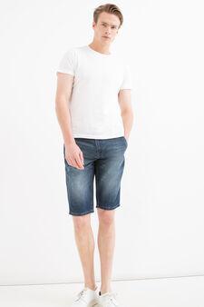 Bermuda di jeans slim fit delavé, Denim, hi-res