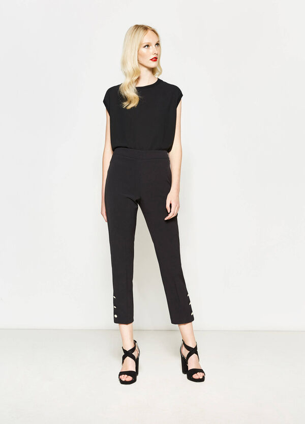 Crop trousers with high waist band | OVS