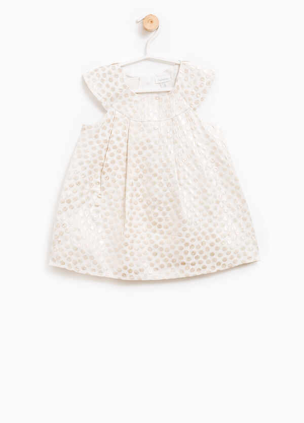 Sleeveless polka dot patterned dress | OVS