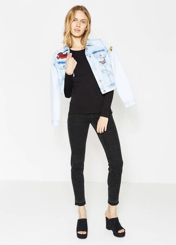Camiseta en viscosa elástica de manga larga | OVS