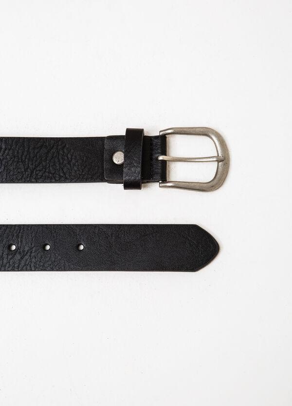 Cintura fibbia lucida tinta unita | OVS