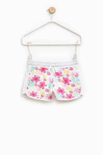 Patterned shorts in stretch cotton