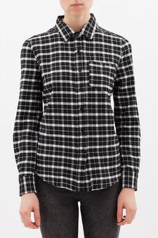 Check shirt, White/Black, hi-res