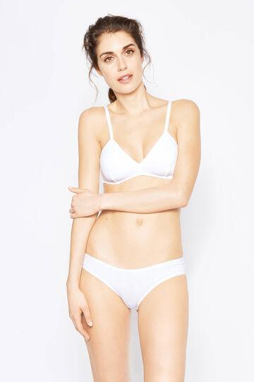Two-pack soft cotton bras, White/Black, hi-res