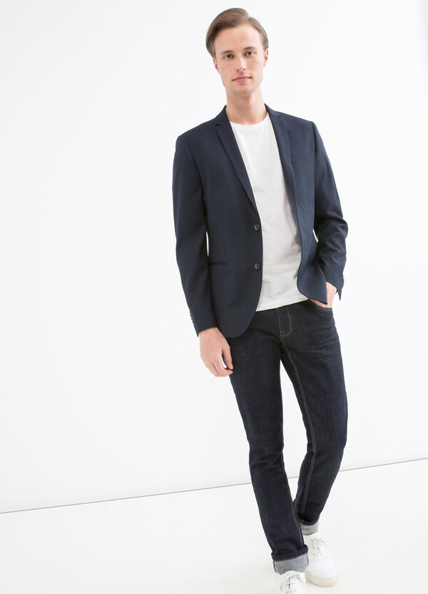 Slim fit stretch polka dot blazer | OVS