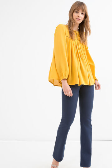 Solid colour 100% viscose blouse., Golden Yellow, hi-res