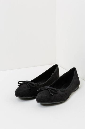 Ballerina flats with bow, Black, hi-res