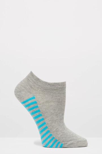 Set due paia di calze corte stretch, Grigio, hi-res