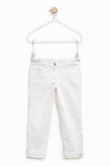 Pantalón elástico con strass