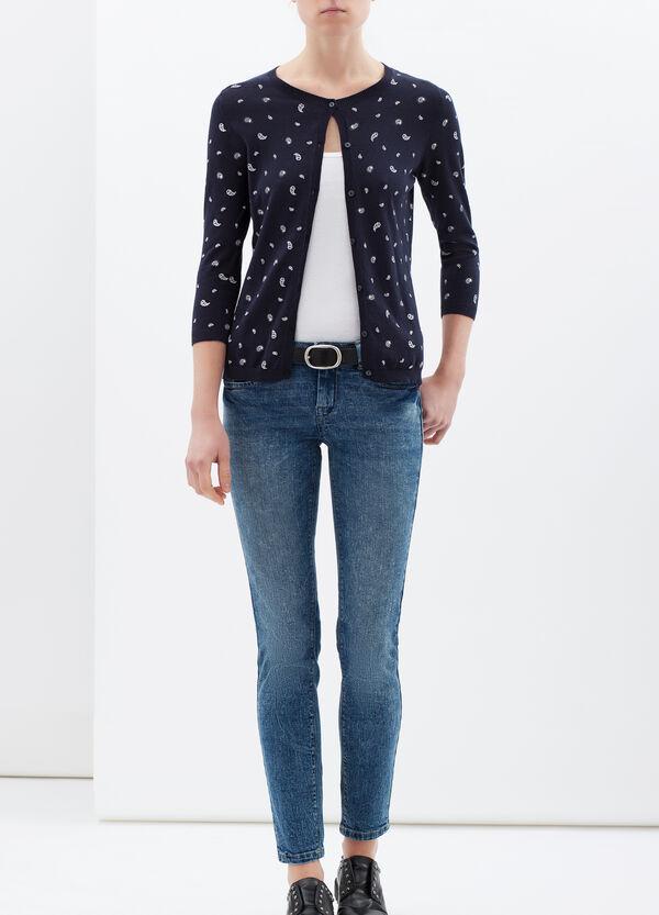 100% cotton paisley cardigan | OVS