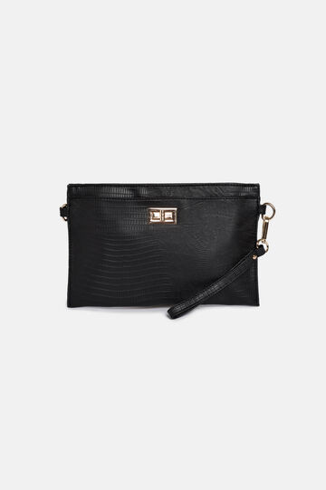 Pochette in ecopelle, Nero, hi-res