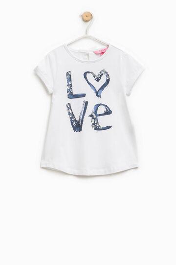 Camiseta en algodón elástico con estampado