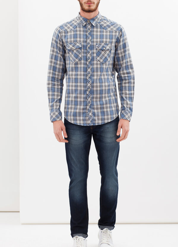 G&H cotton shirt with pockets | OVS