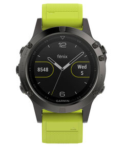 "GPS-Multifunktionsuhr ""fēnix 5"" grau/gelb"