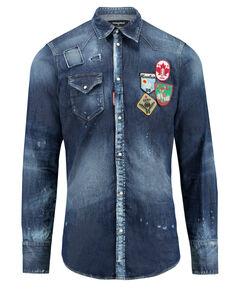 Herren Jeanshemd Regular Fit Langarm