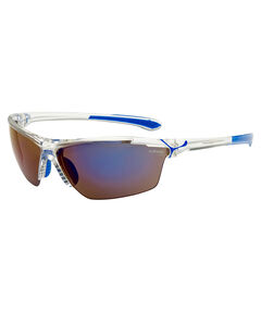 "Sportbrille / Sonnenbrille ""Cinetik Shiny White/Blue / 1500 Grey Flash Blue + Yellow + Clear"""