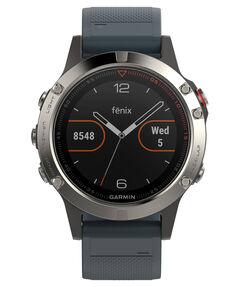 "GPS-Multifunktionsuhr ""fēnix 5"" silber/blau"