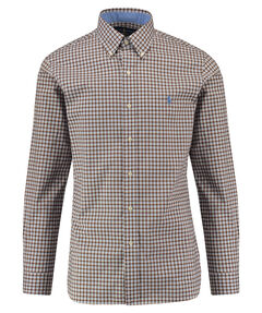 Herren Button-Down-Hemd Slim Fit Langarm