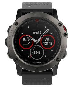"""GPS-Multifunktionsuhr """"fēnix 5X Saphir"""" grau/schwarz"""