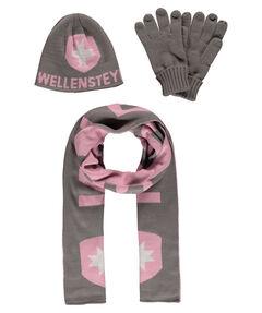 Damen Accessoire-Set aus Mütze, Schal und Handschuhen