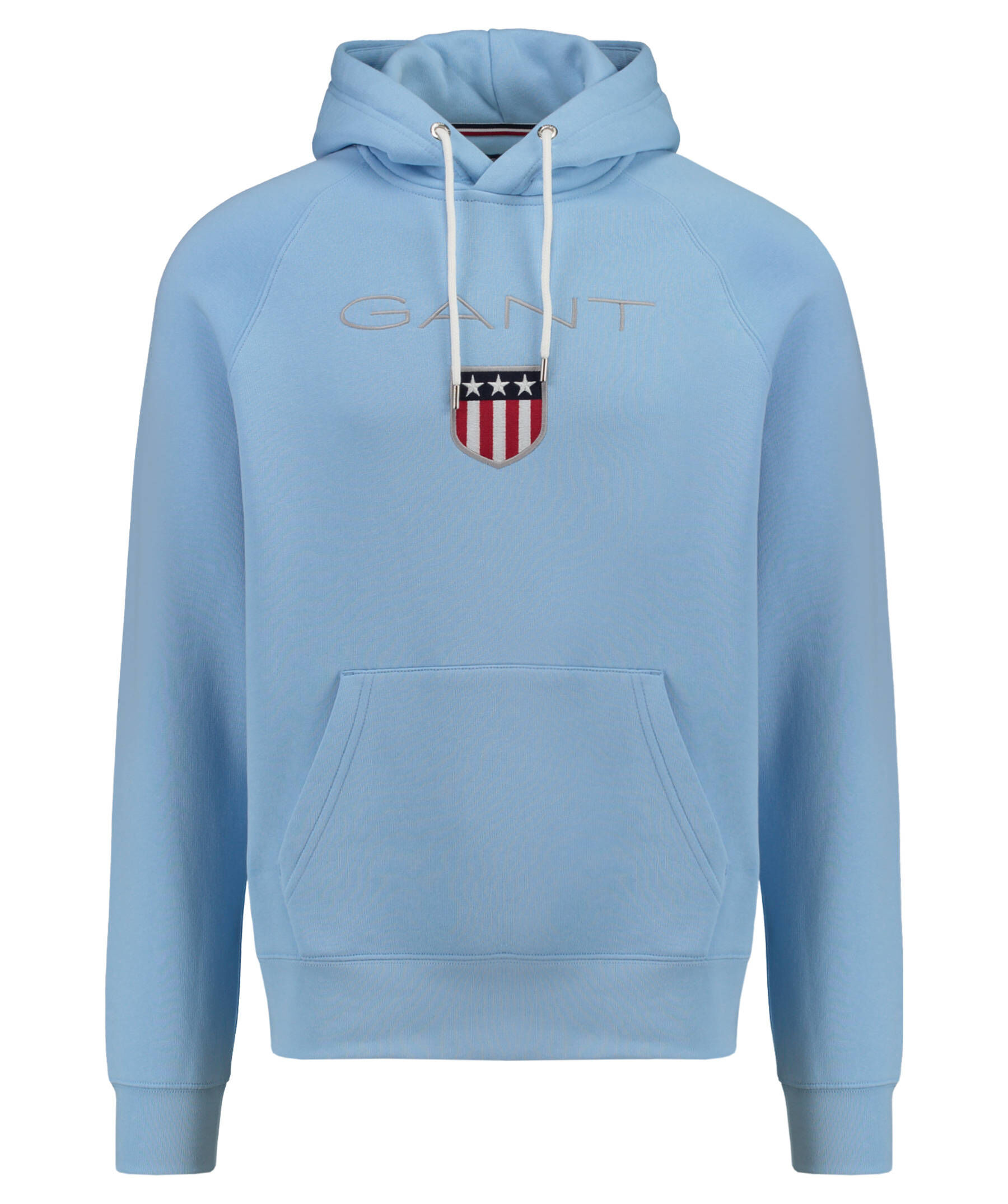 gant herren kapuzensweatshirt shield sweat hoodie blau. Black Bedroom Furniture Sets. Home Design Ideas