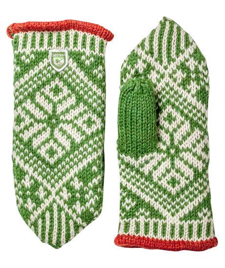 Hestra Handschuhe / Fäustlinge / Fausthandschuhe Nordic Wool Mitt, grün, Gr. 6