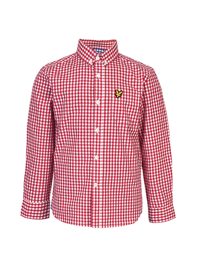 Boys Gingham Shirt, , hi-res