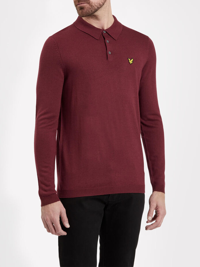 Knitted Polo Shirt, , hi-res