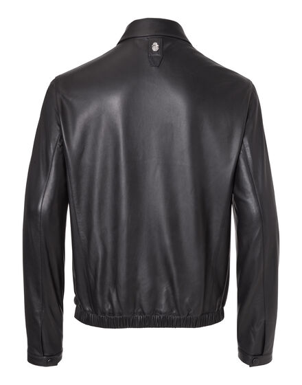 Leather Crest Jacket