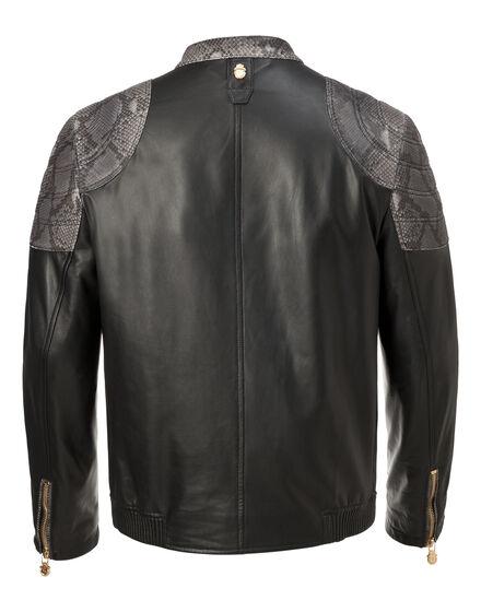 Leather Crest Biker