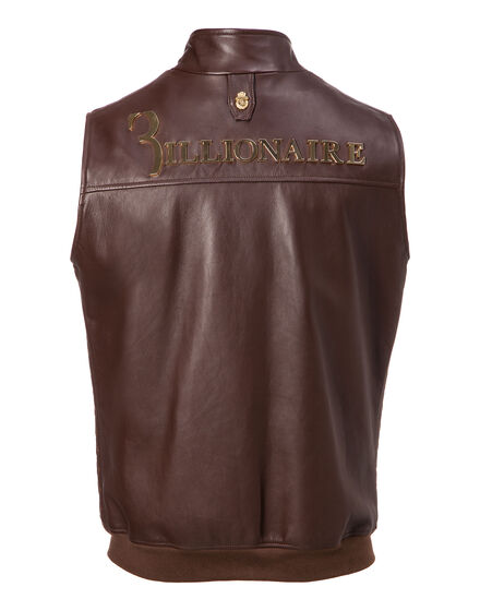 Leather Vest Short