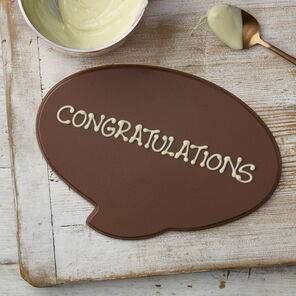 Personalised Milk Chocolate Speech Bubble (110g)