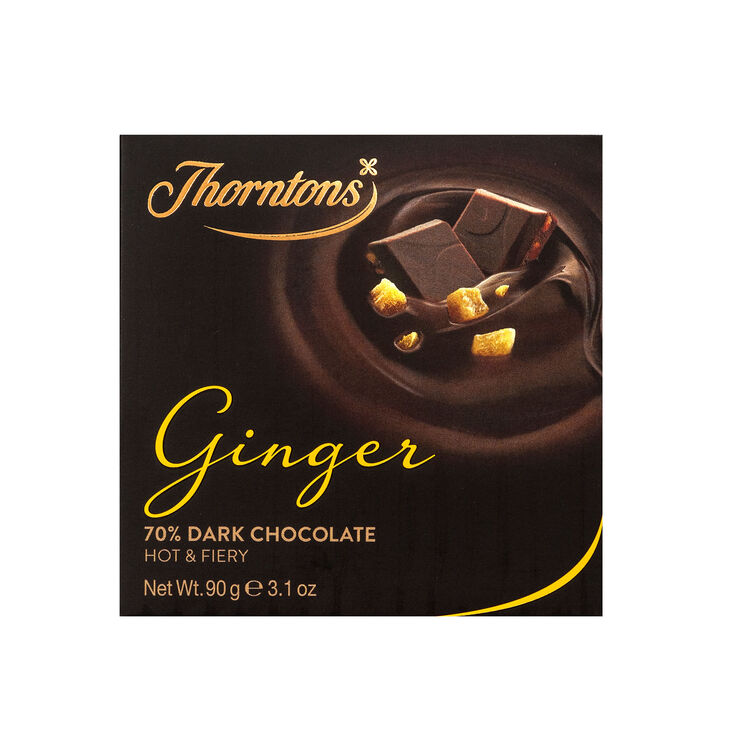 70% Dark Ginger Chocolate Block (90g)