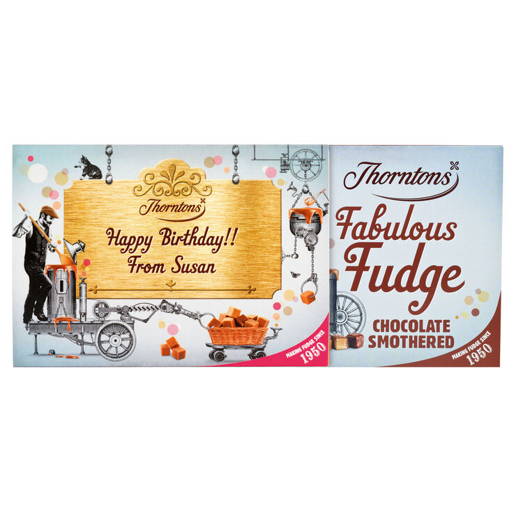 Personalised Chocolate Smothered Fudge Box