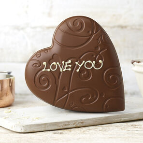 Chocolate Lace Heart Model (200g)